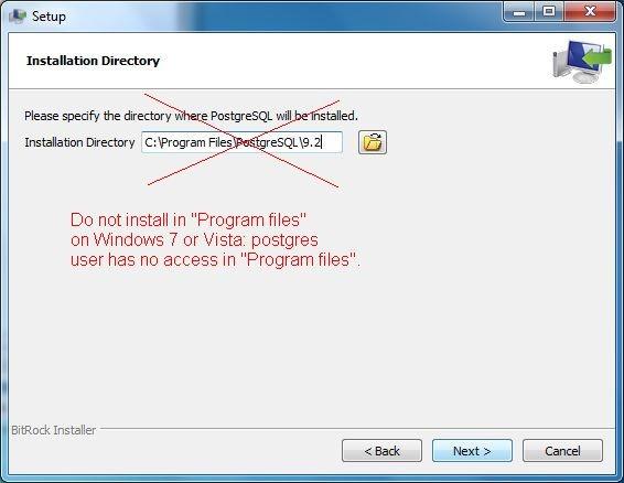 Postgresql install windows 8