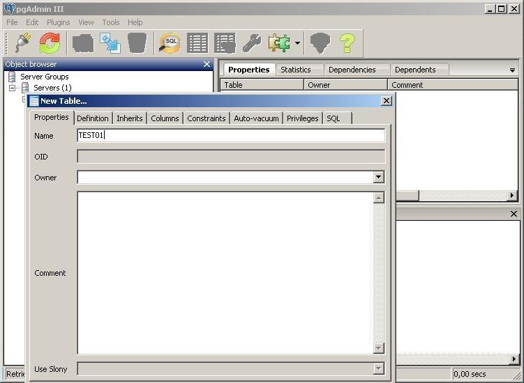 PostgreSQL table creation - OpenEarth - Deltares Public Wiki