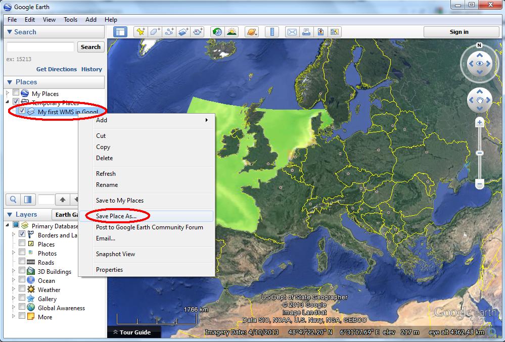 WMS in Google Earth - OpenEarth - Deltares Public Wiki